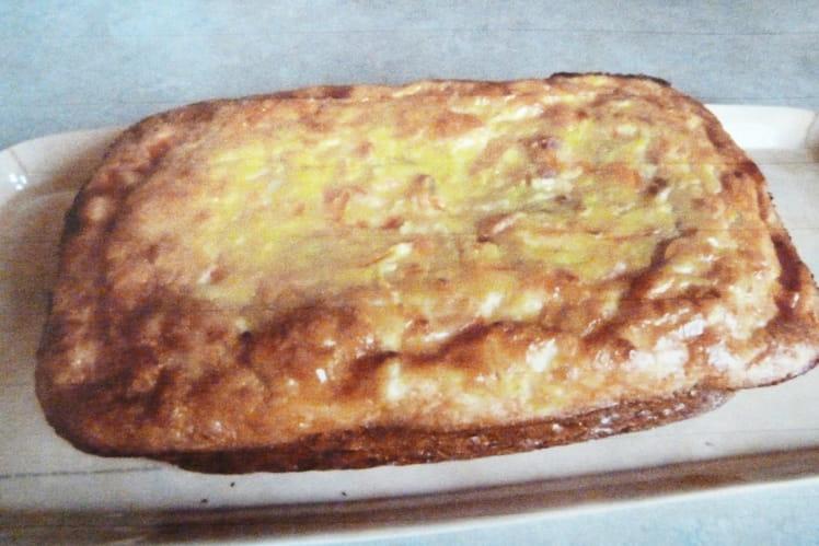Cake sans gluten au saumon et légumes