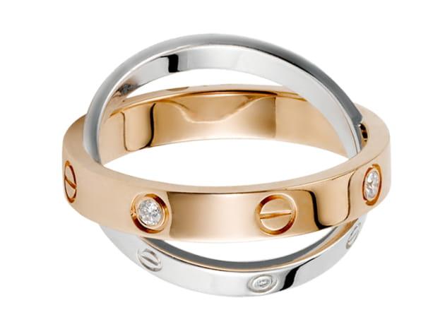 """Bague """"Love"""" à deux anneaux de Cartier"""