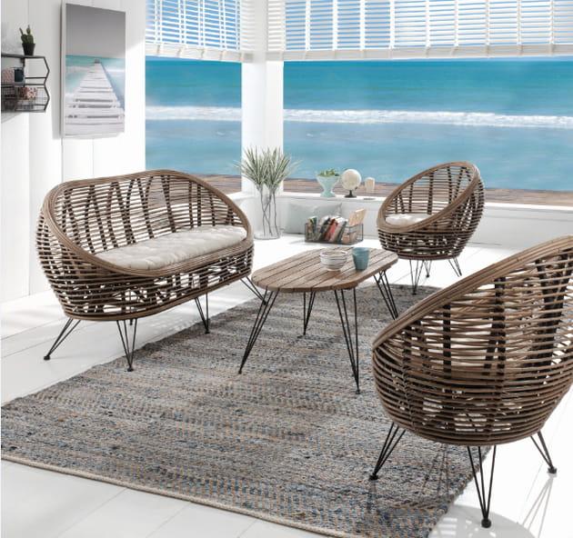 salon de jardin lombok de cocktail scandinave. Black Bedroom Furniture Sets. Home Design Ideas