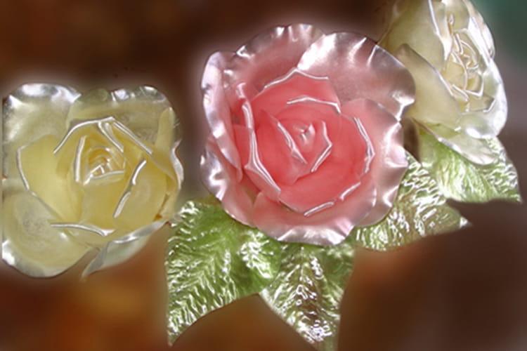 Fleurs en sucre tiré