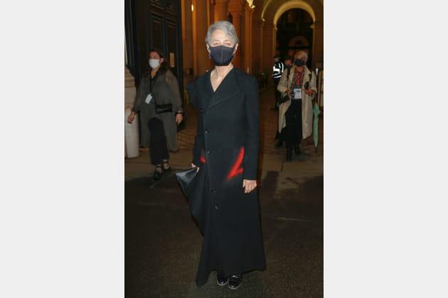 Charlotte Rampling au défilé Yohji Yamamoto