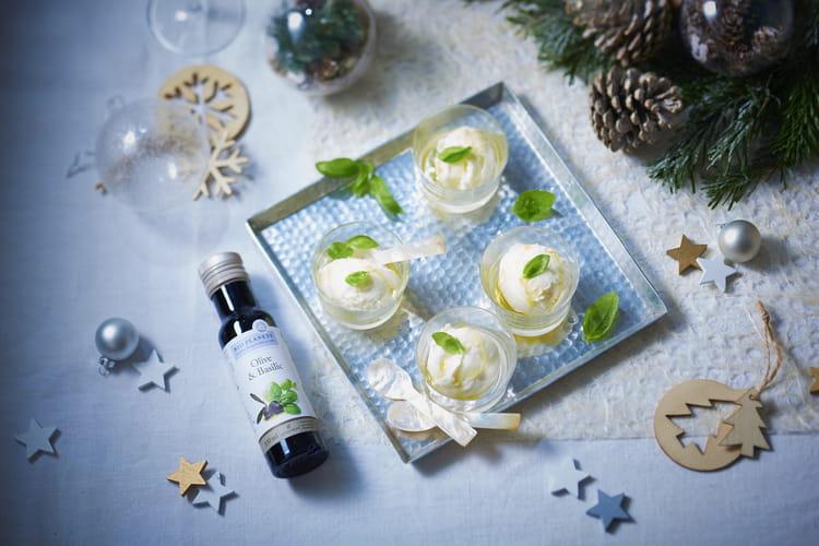 Sorbet au citron et à l'huile d'Olive & Basilic par Bio Planète