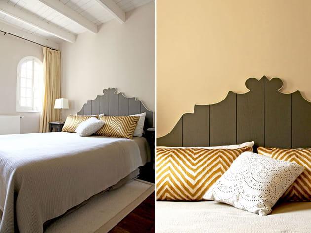 Une chambre perle et dorée