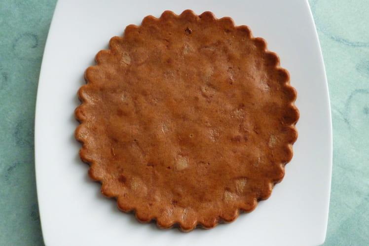 Pancake protéiné pomme poire amande chocolat et germes de riz/bambou