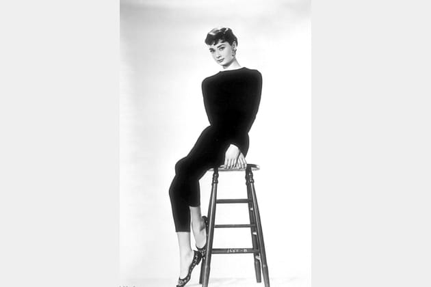 Audrey Hepburn en total look noir