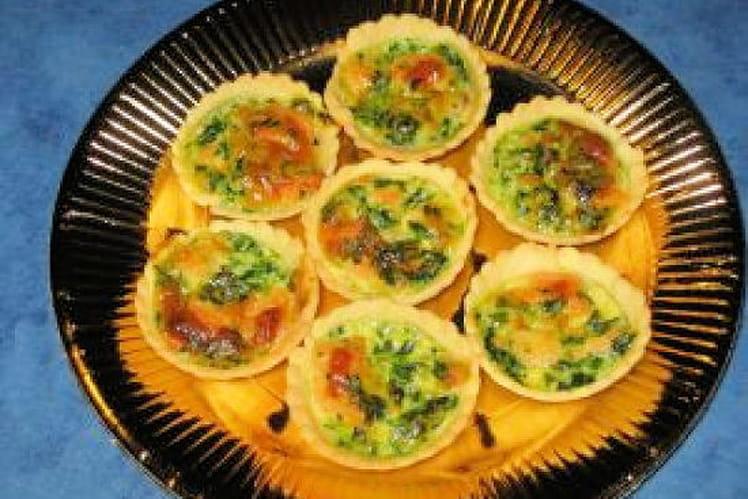 Mini quiches au saumon fumé et épinards