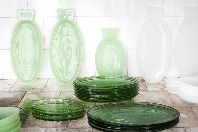 La vaisselle vert jade