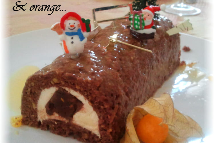 Bûche orange et chocolat