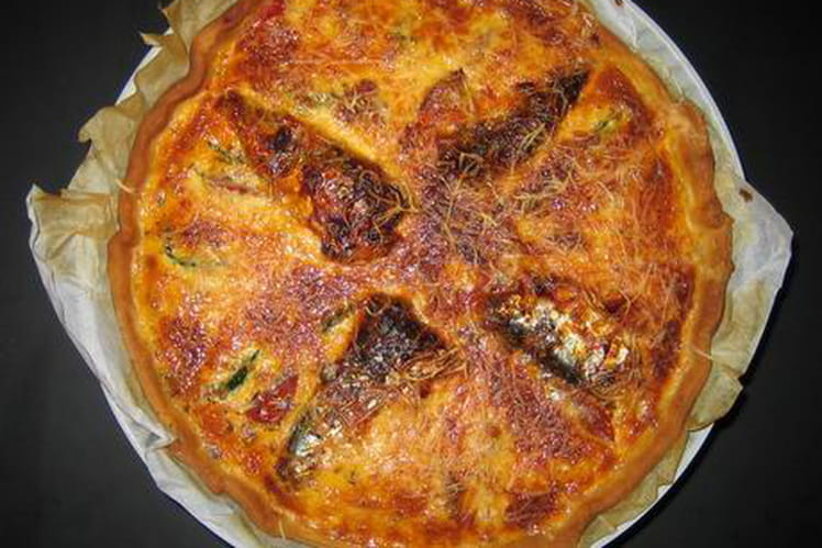 Tarte courgette-tomate-sardines