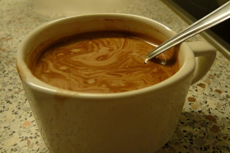Café crème au chocolat