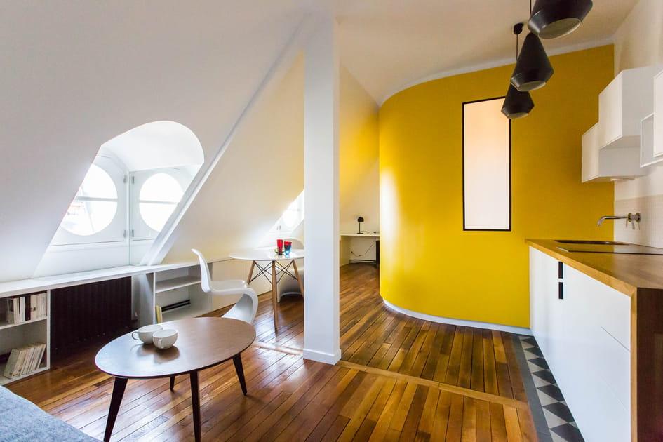 Trois chambres de bonnes réunies en un appartement