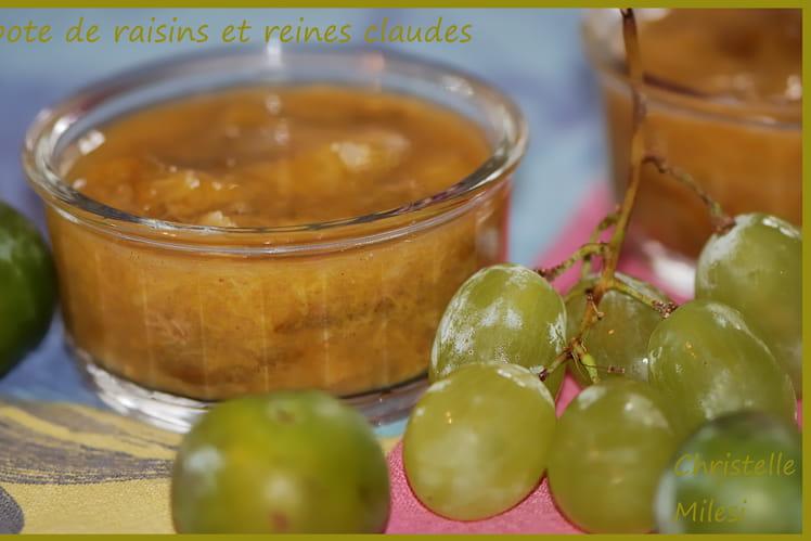 Compote de raisins et reines claudes