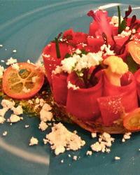 des plats rouge-passion pour les amoureux