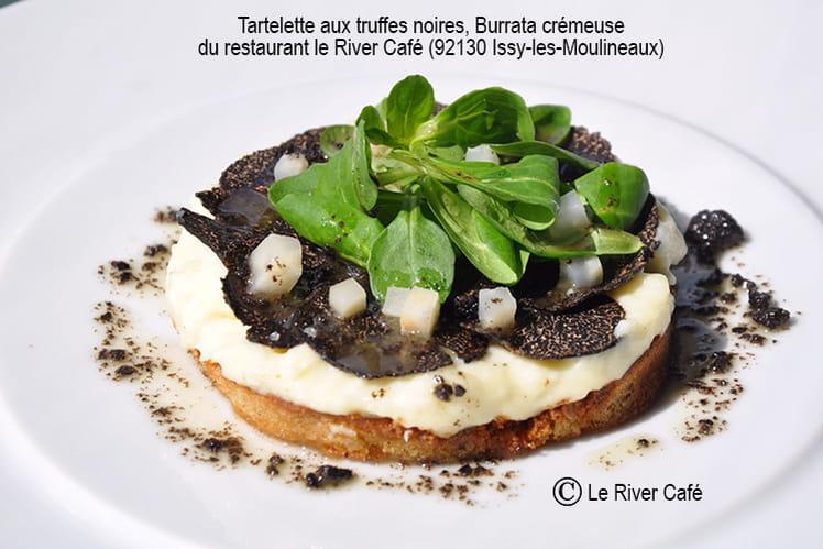 Tartelette aux truffes noires, Burrata crémeuse