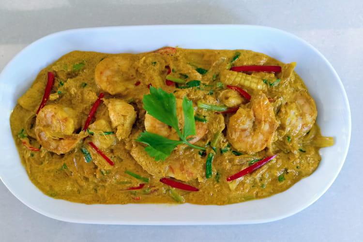 Fruits de mer sautés au curry