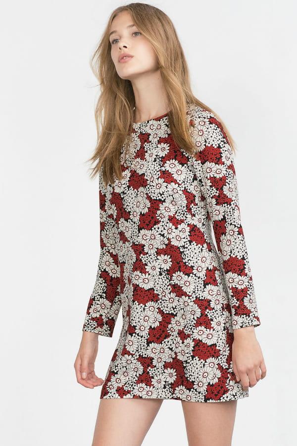 Robe A Fleurs De Zara