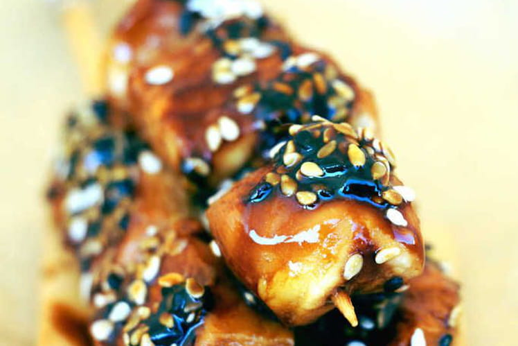 Poulet teriyaki aux graines de sésame