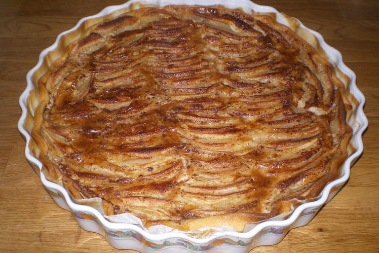 Tarte fde saison pommes-coings fondante