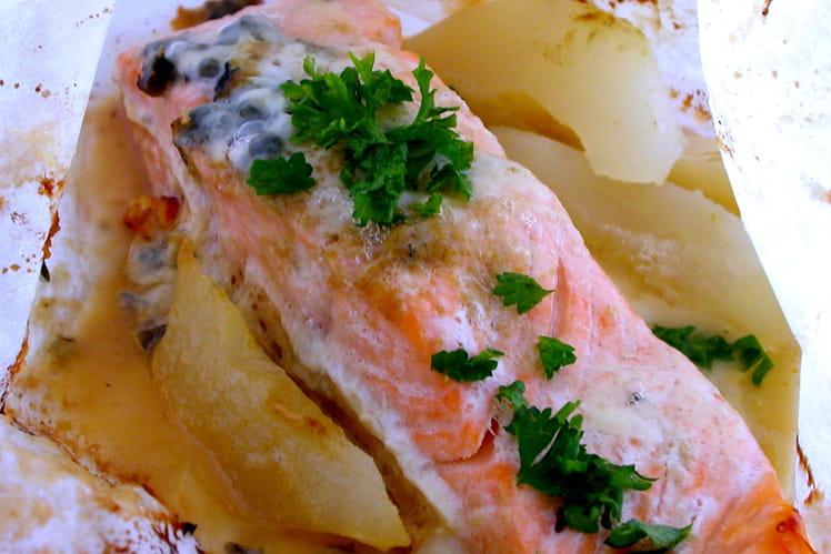 Papillotes de saumon au roquefort