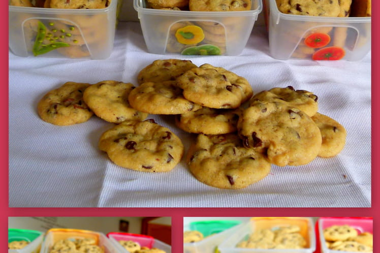 Mini cookies aux pépites de chocolat au lait
