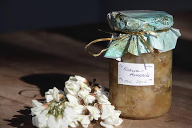 Confiture de fleurs d'acacia aux amandes