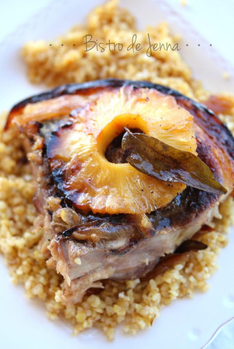 Recette de rouelle de porc caram lis l 39 ananas la recette facile - Cuisiner la rouelle de porc ...
