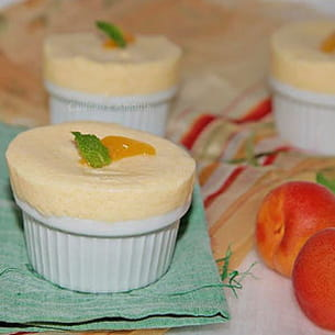 soufflé glacé à l'abricot