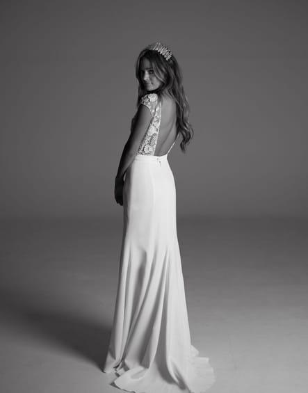 Robe de mariée Sewell, de dos