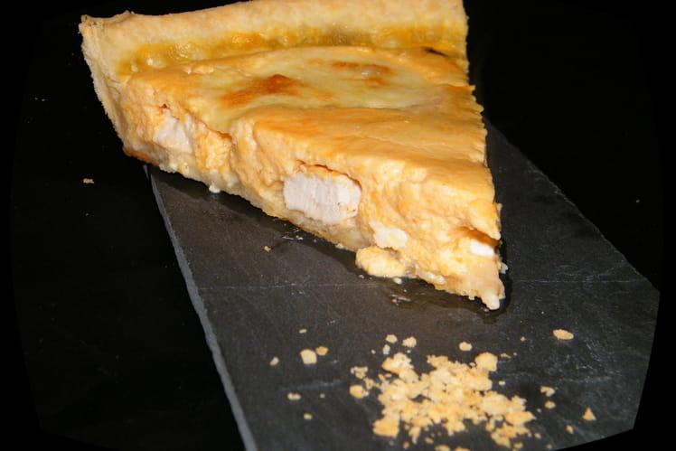 Quiche au poulet , potiron et fromage