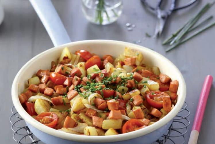 Poêlée de pommes de terre aux Knacki®
