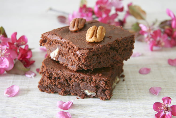 Brownie fondant aux noix de pécan sans gluten et sans lactose