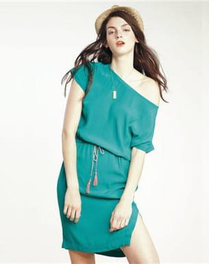 robe vert menthe de comptoir des cotonniers