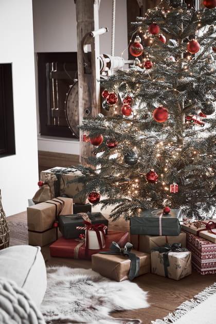 Noël rouge et lumineux
