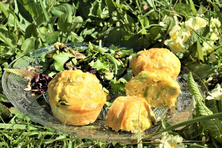 Muffins moelleux fèves et gruyère râpé