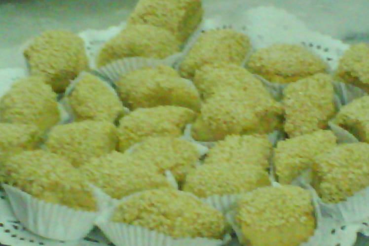 Djeldjlania, gâteaux aux grains de sésame