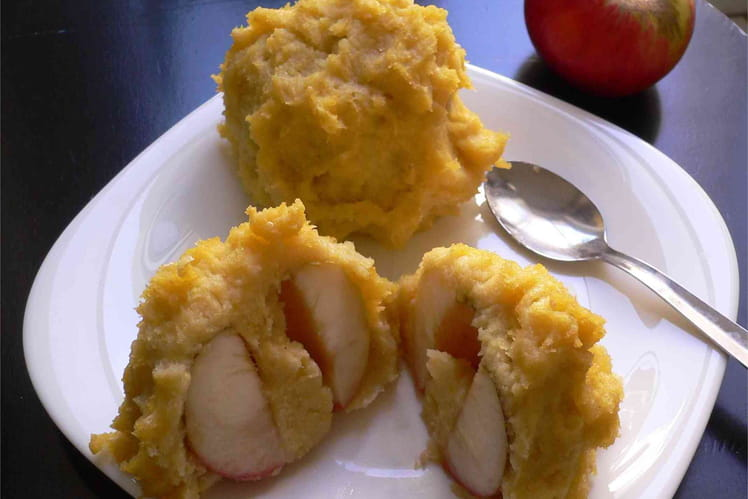 Pommes au four enrobées de polenta à l'orange