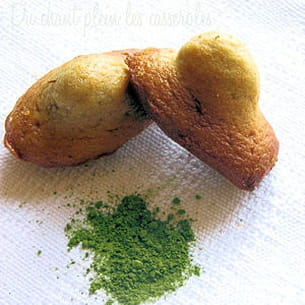madeleines au beurre salé et au thé matcha