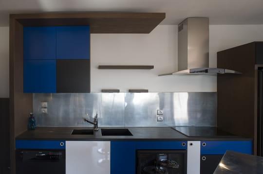 Une cuisine façon Mondrian