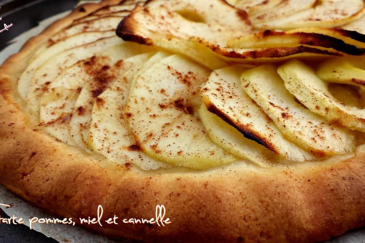Tarte aux pommes miel et cannelle