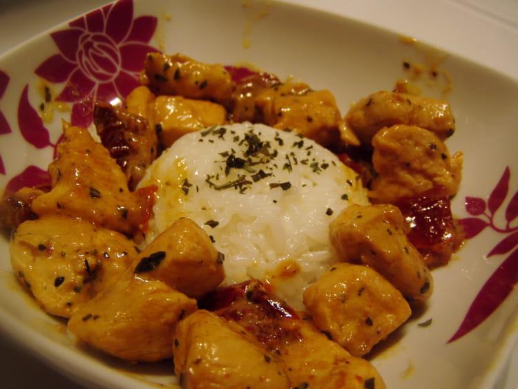 Recette eminc de poulet aux tomates s ch es la recette - Cuisiner les morilles sechees ...