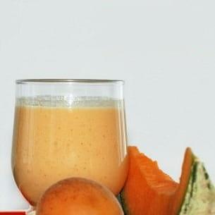 smoothie melon-abricot