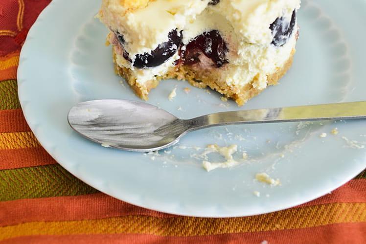 Cheesecakes individuels sans cuisson aux cerises