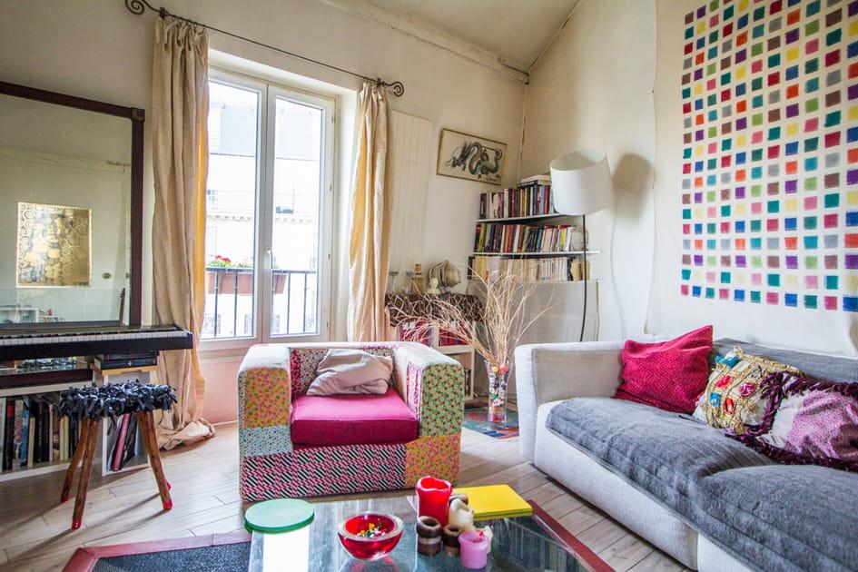 Un salon multicolore