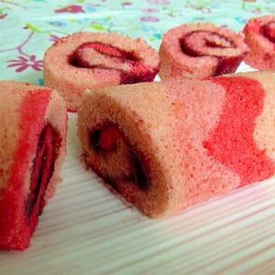 gâteau roulé à la framboise