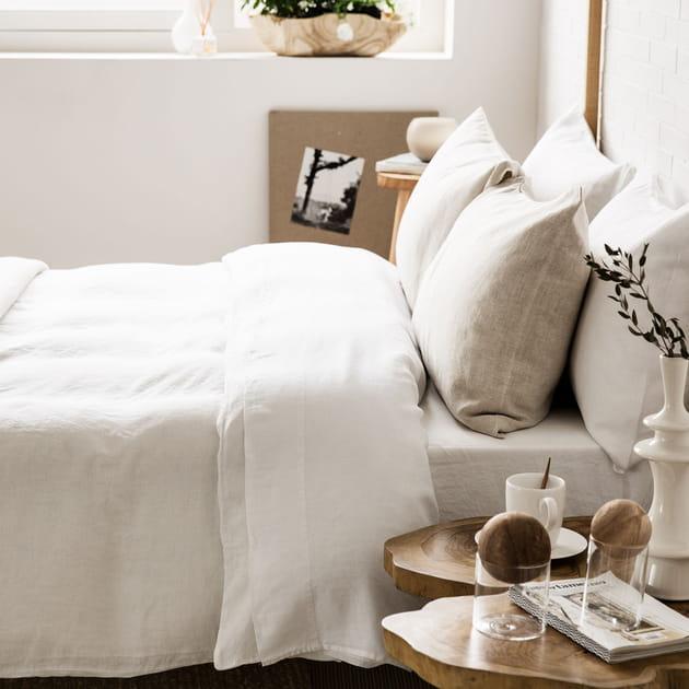Parure de lit blanche chez Zara Home