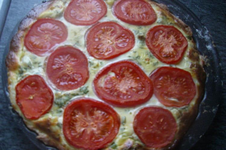 Tarte tomates-petits pois
