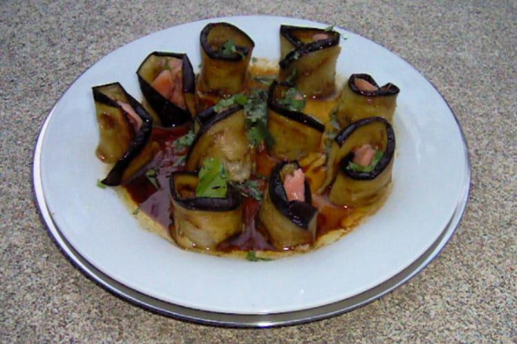 Makis de saumon aux aubergines