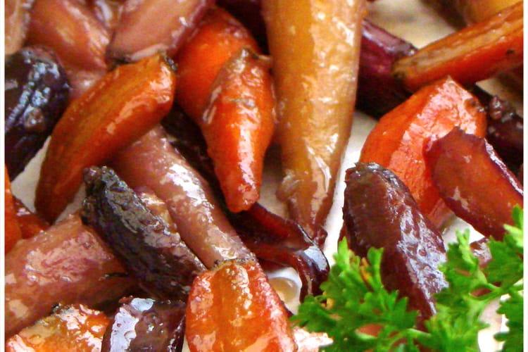Mini carottes de couleurs glacées