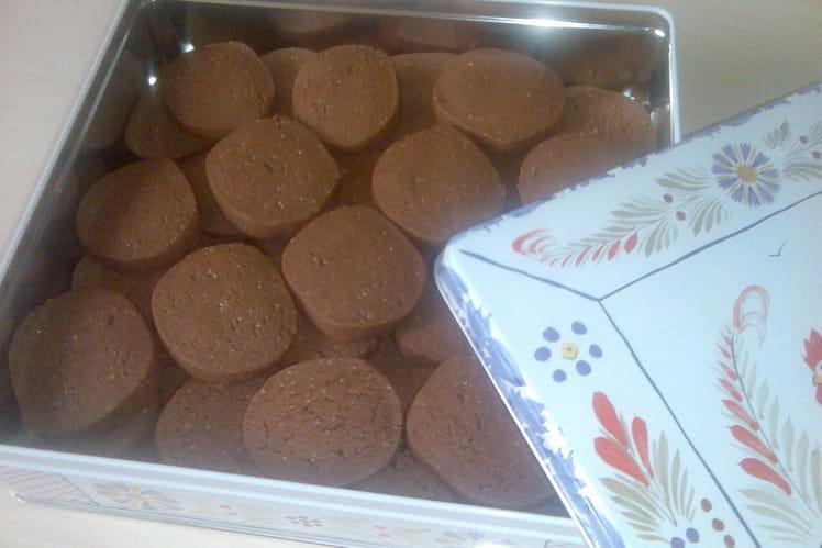Sablés bretons au chocolat