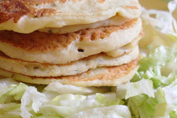 Pancakes de pommes de terre, ail et fines herbes
